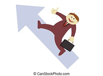 Flecha de empresario