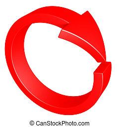 Flecha roja. Ciclo.