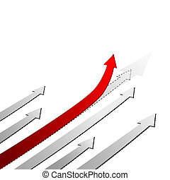 Flecha roja. El concepto del éxito