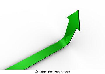 Flecha verde apuntando hacia arriba