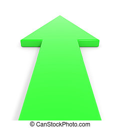 Flecha verde hacia adelante.