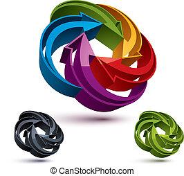 Flechas abstractas, vector de diseño gráfico