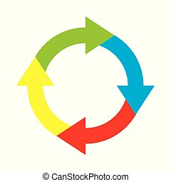 Flechas de círculo infográfico