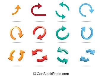 Flechas de ciclo 3D