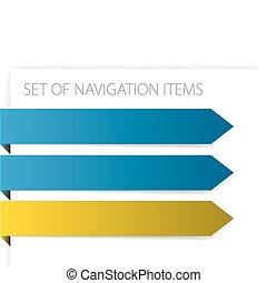 Flechas de papel, artículos de navegación modernos