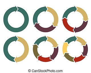 Flechas en círculo de vectores para información gráfica
