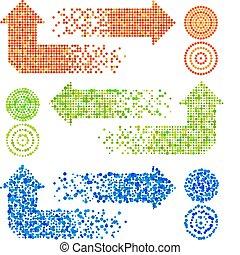 flechas, mosaico