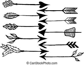Flechas rústicas
