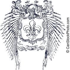 Fleur de lis, escudo clásico