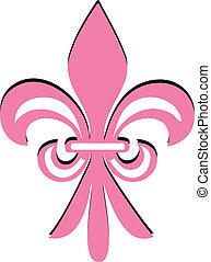 Fleur de lis rosa