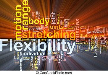 flexibilidad, concepto, encendido, plano de fondo