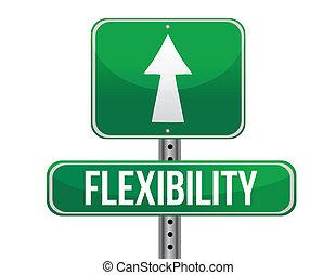 flexibilidad, diseño, camino, ilustración, señal