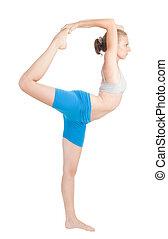 flexibilidad, mujer, ejercicio