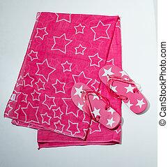 Flip-flops y toalla - sandalias und handtuch
