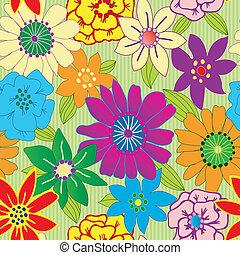 Flor colorida sin manchas repitiendo fondo