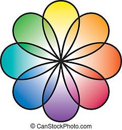 Flor de arco iris