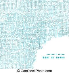 Flor de encaje azul, textil, estructura textil de fondo