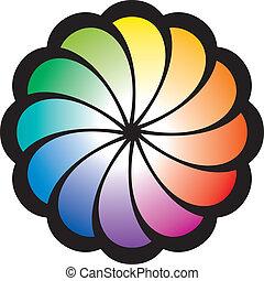 Flor de espiral arcoíris