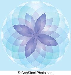 Flor de loto abstracto