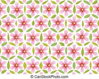Flor de patrón de vida rosa