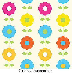 Flor de primavera diseño de vector sin mancha