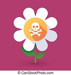 Flor de vector con cráneo