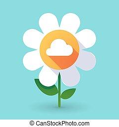 Flor de vector con una nube