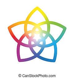 Flor del arco iris blanco