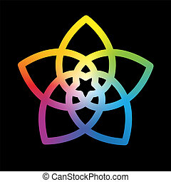 Flor del arco iris negro de Venus