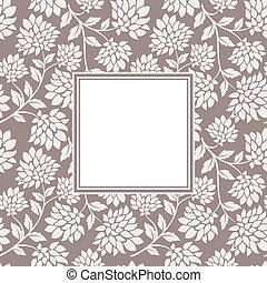 Flor sin costura con marco