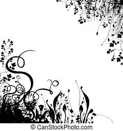 floral, #2, plano de fondo