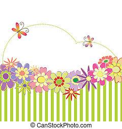 Floral colorido de primavera