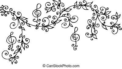 Floral musical vignette CCCI