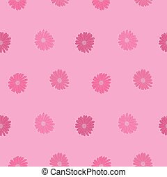 floral, pattern., vector, seamless, lindo, rosa, print.