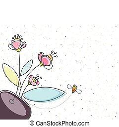 Floral y la abeja