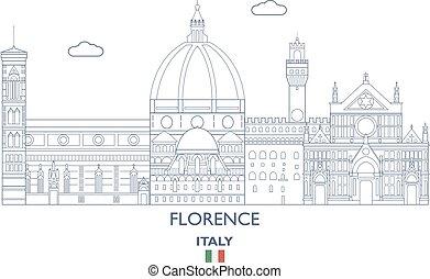 Florence City Skyline, Italia