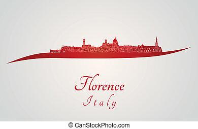 Florence Skyline en rojo