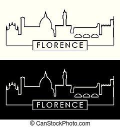 Florence Skyline. Estilo lineal.