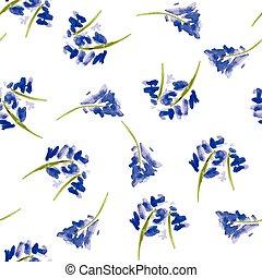 Flores acuarelas esqueladas al estilo antiguo