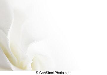 Flores blancas y suaves