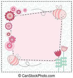 Flores bonitas y abejas bonitas