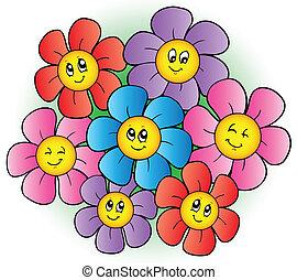 Flores de dibujos animados
