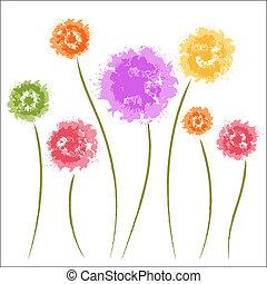 Flores de león. Acuarela