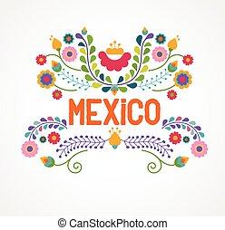 Flores de México, patrones y elementos