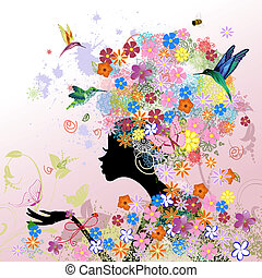 Flores de moda femenina