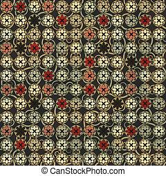 Flores de vintage sin costura