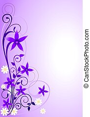 Flores de violeta adornadas