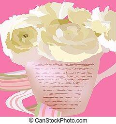 Flores en una taza
