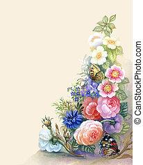 Flores gárgaras