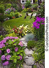 flores, jardín